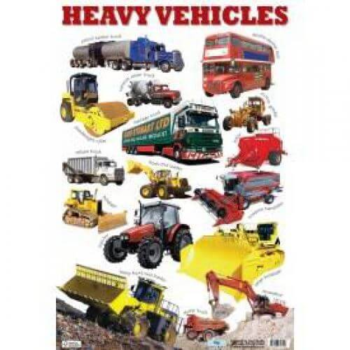 Heavy Vehicles Wall Chart