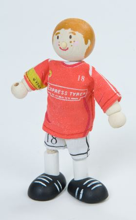 Le Toy Van Budkins Footballer (Red) No 18