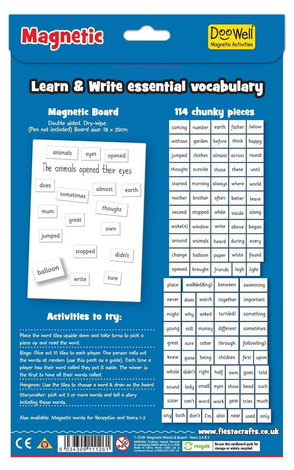 Doowell Magnetic Words School Years 3 & 4
