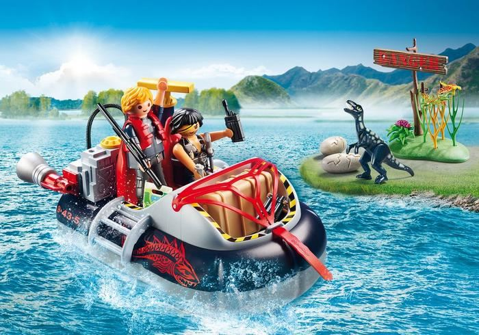 Playmobil 9435 Dino Hovercraft with Underwater Motor