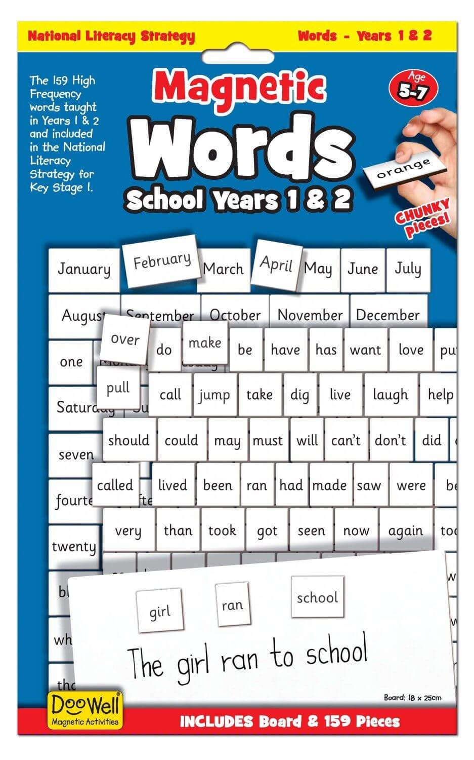 Doowell Magnetic Words School Years 1&2