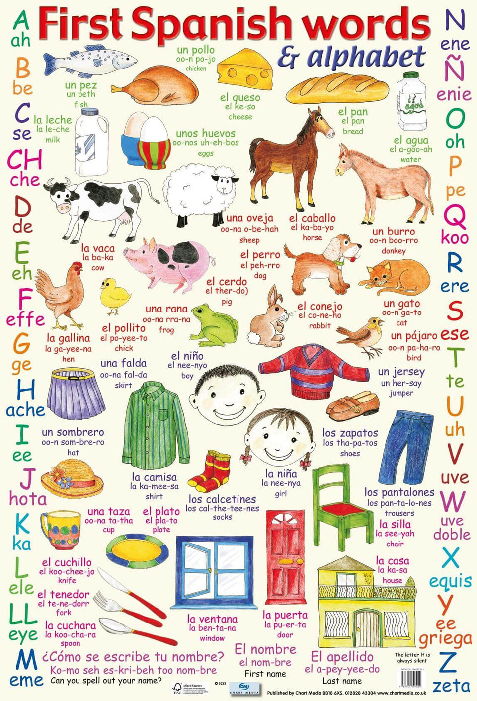 First Spanish Wall Chart
