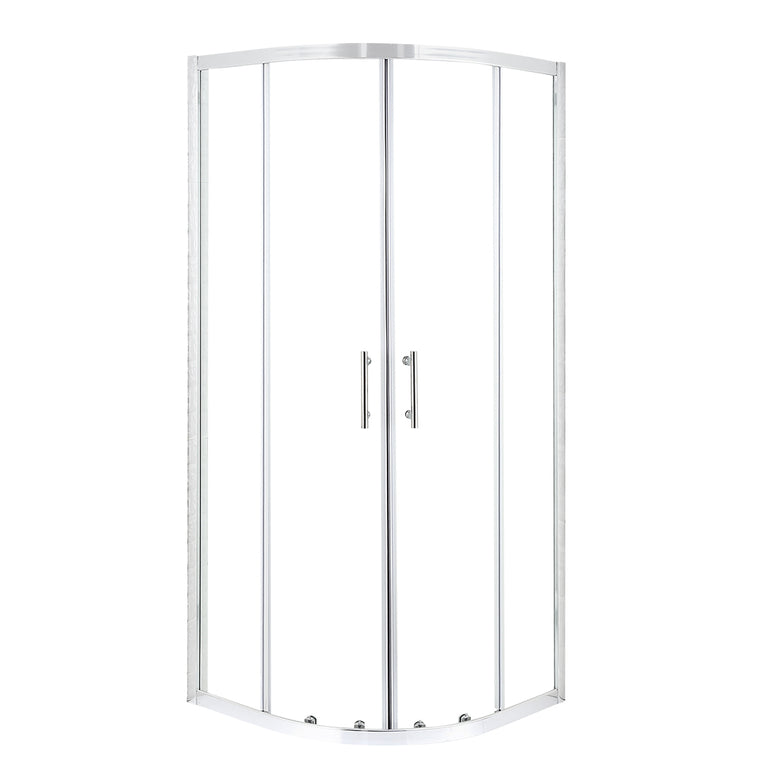 Levede Shower Screen Screens Door Seal Enclosure Glass PanelCurved800x800x1900mm