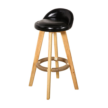 2x Levede Leather Swivel Bar Stool Kitchen Stool Dining Chair Barstools Black