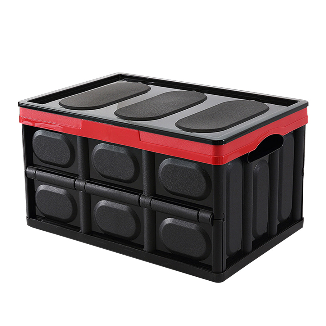 1pk 55L 53x35x29 Cm Collapsible Truck Storage Bins