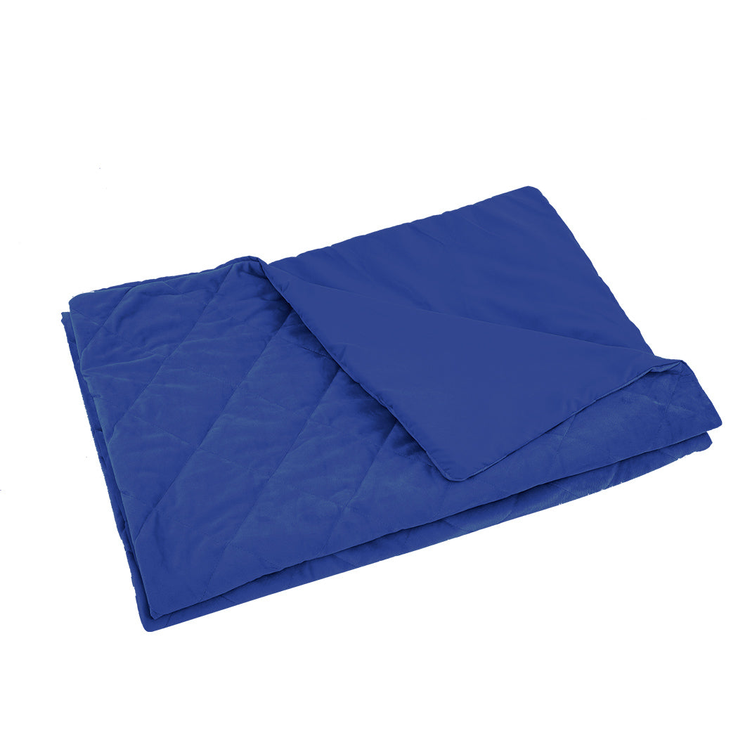 DreamZ 198x122cm Anti Anxiety Weighted Blanket Cover Polyester Cover Only Blue