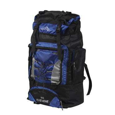 Blue 80L Large Waterproof Travel Backpack Camping Outdoor Hiking Luggage