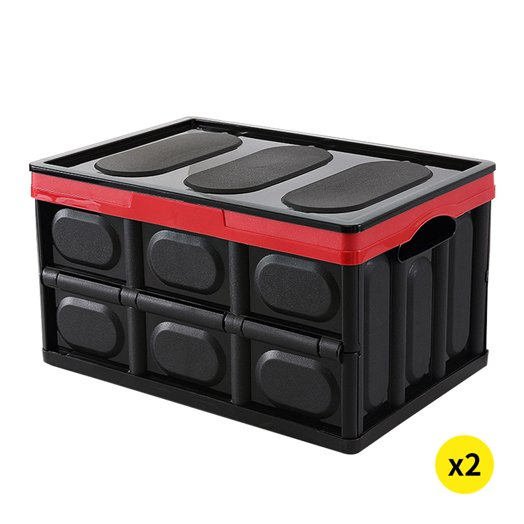 2pk 30L 43x30x23 Cm Collapsible Truck Storage Bins