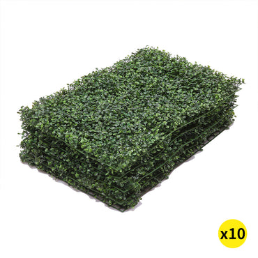 10x Artificial Boxwood Hedge Fake Vertical Garden Green Wall Mat Fence Outdoor