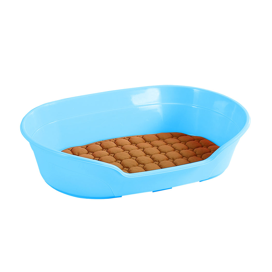 Large 85cm Plastic Pet Bed with Ventilation Holes Resting Plastic Dog Basket