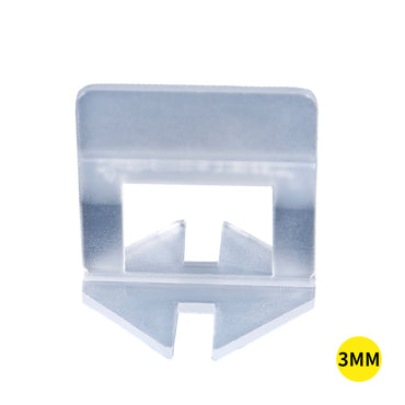 400x 3MM Tile Leveling System Clips Levelling Spacer Tiling Tool Floor Wall