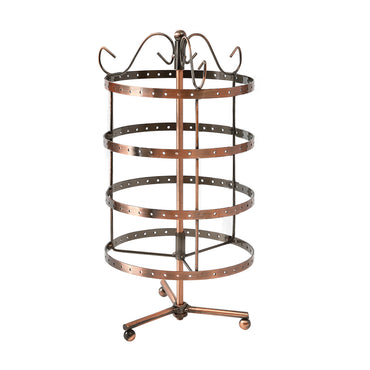 Earring Holder Stand Jewelry Display Hanging Rack Storage Metal Organizer 4 Tier Bronze