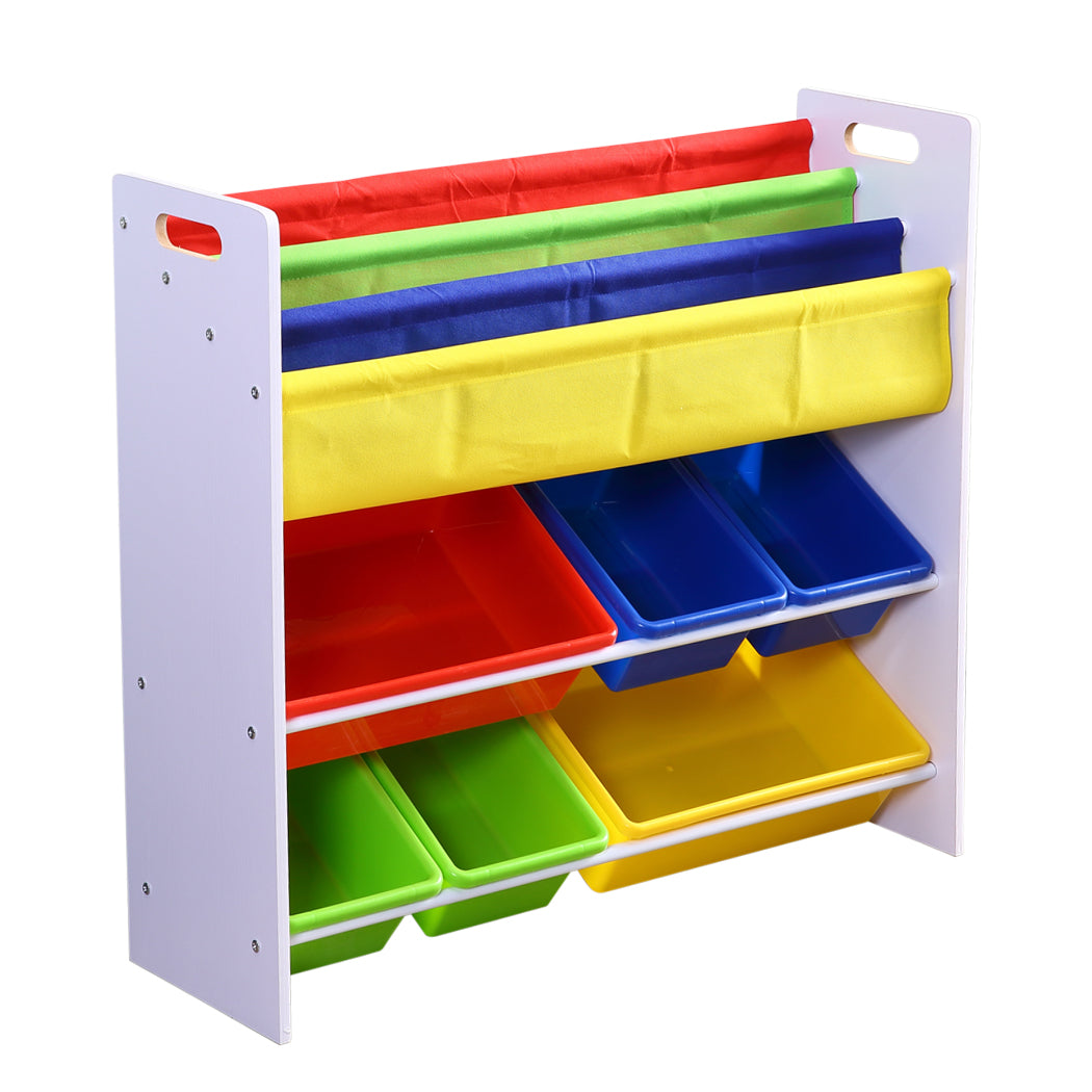 Levede 6 Bins Kids Toy Box Bookshelf Organiser Display Shelf Storage Rack Drawer