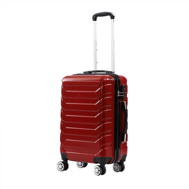 3pc ABS PC Luggage Set Red Colour