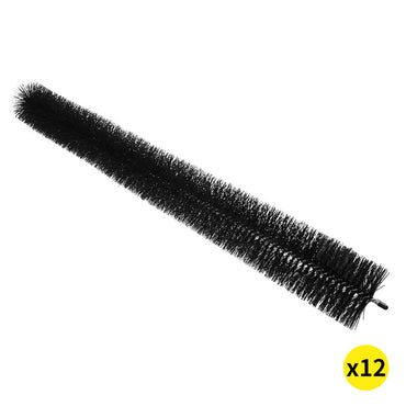 12 Pcs Heavy Duty Gutter Brush Guard 100mm x 11m Length - Leaf Twigs Home Garden