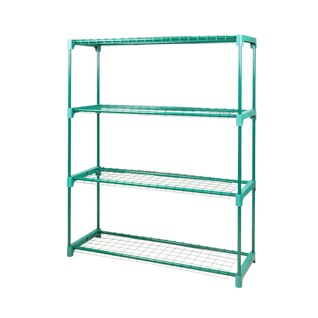 2x 4 Tier Garden Greenhouse Steel Plant Storage Shelving Frame Stand Shelf Rack