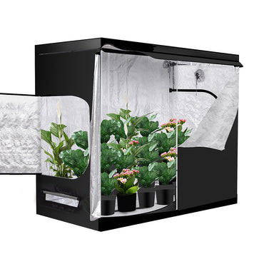 Garden Hydroponics Grow Room Tent Reflective Aluminum Oxford Cloth 120x120cm