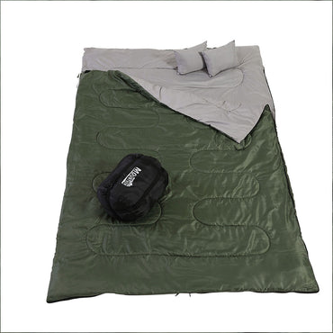 Mountview Sleeping Bag Double Bags Outdoor Camping Thermal -10℃ Hiking Tent