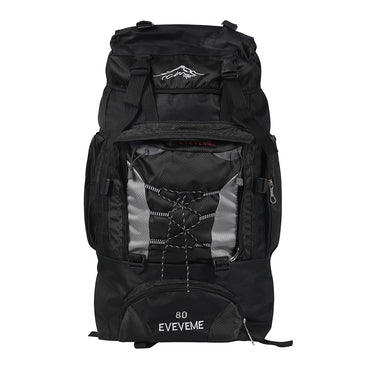 Black 80L Large Waterproof Travel Backpack Camping Outdoor Hiking Luggage