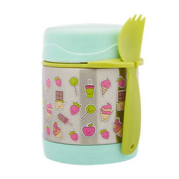 Funtainer Kids S/Steel 290ml Vacuum Insulated Food Jar Pink Elephant