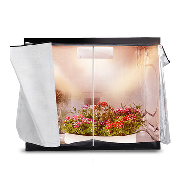 Garden Hydroponics Grow Room Tent Reflective Aluminum Oxford Cloth 240x120cm