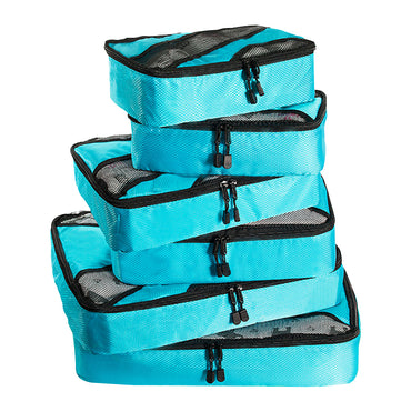 6 Pcs Travel Cubes Storage Toiletry Bag Clothes Luggage Organizer Packing Bags