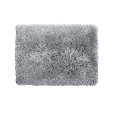 Floor Rugs Sheepskin Shaggy Rug Area Carpet Bedroom Living Room Mat 80X150 Grey