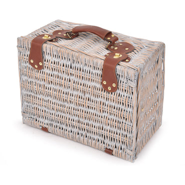 Deluxe 2 Person Picnic Basket Baskets Set Outdoor Corporate Blanket Park Trip