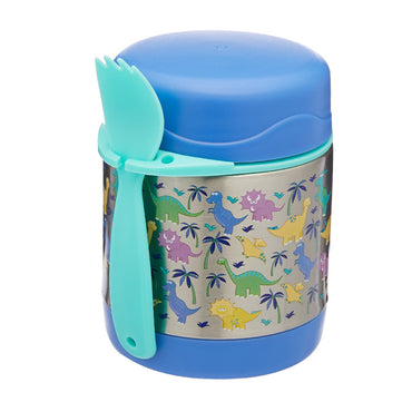 Funtainer Kids S/Steel 290ml Vacuum Insulated Food Jar Blue Bear