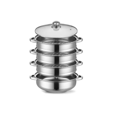 4 Tier Stainless Steel Steamer Meat Vegetable Cooking Steam Pot Kitchen Tool