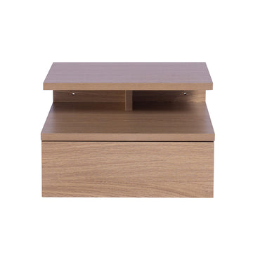 Levede Bedside Tables LED Side Table Storage Drawer Nightstand Wood Oak X2