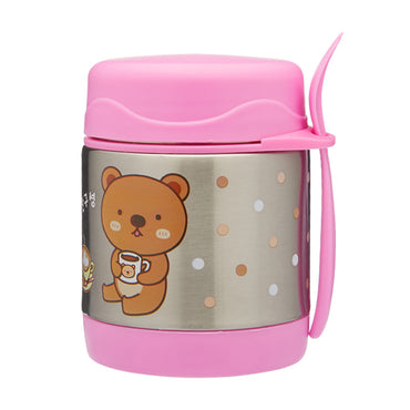 Funtainer Kids S/Steel 290ml Vacuum Insulated Food Jar Pink Baby