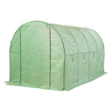 Greenhouse Plastic Cover Film Walk in Outdoor Garden Green House Tunnel 6X3X2M