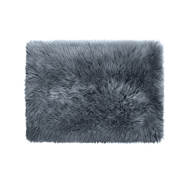 Floor Rugs Sheepskin Shaggy Rug Carpet Bedroom Living Room Mat 80X150 Dark Grey