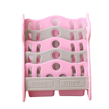 BoPeep Kids Bookshelf Bookcase Magazine Rack Organiser Shelf Children Pink