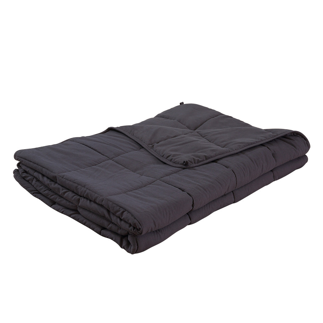 DreamZ 11KG Weighted Blanket Promote Deep Sleep Anti Anxiety Double Dark Grey