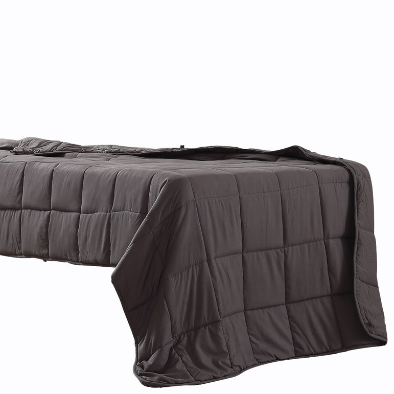 DreamZ Weighted Blanket Heavy Gravity Deep Relax 9KG Adult Double Grey