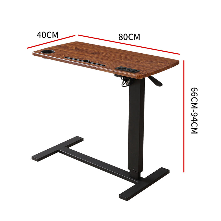 Adjustable Standing Desk Chargeable Office Computer Desktop Riser Shelf Standup