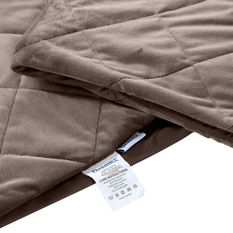 DreamZ 9KG Anti Anxiety Weighted Blanket Gravity Blankets Mink Colour