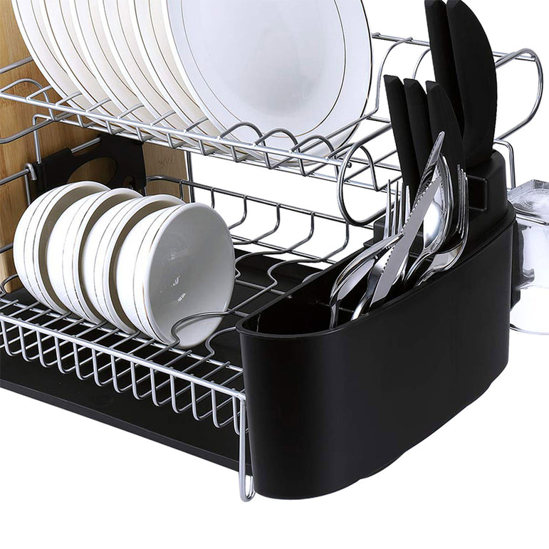 Stainless Steel Kitchen Dish Rack Dishrack Cup Dish Drainer Plate Tray Holder