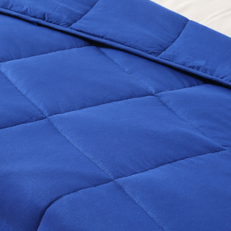 DreamZ Weighted Blanket Heavy Gravity Deep Relax 5KG Adult Double Navy