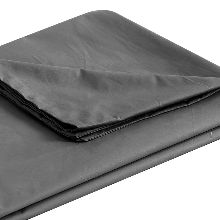 DreamZ 121x91cm Anti Anxiety Weighted Blanket Cover Polyester Cover Only Grey