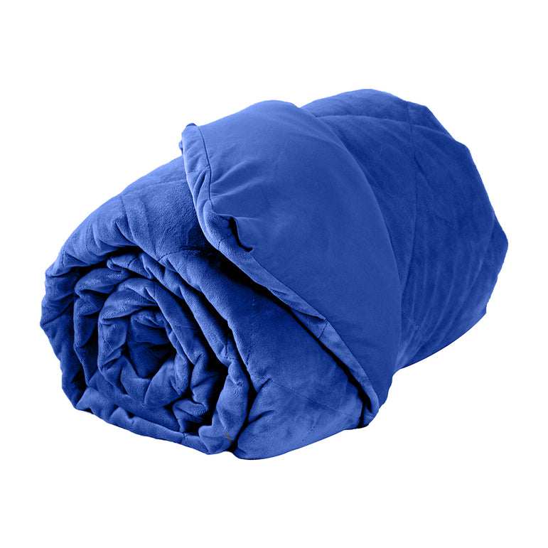 DreamZ 9KG Anti Anxiety Weighted Blanket Gravity Blankets Royal Blue Colour