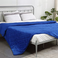 DreamZ Weighted Blanket 10KG Heavy Gravity Deep Relax Adults Cotton Cover Blue
