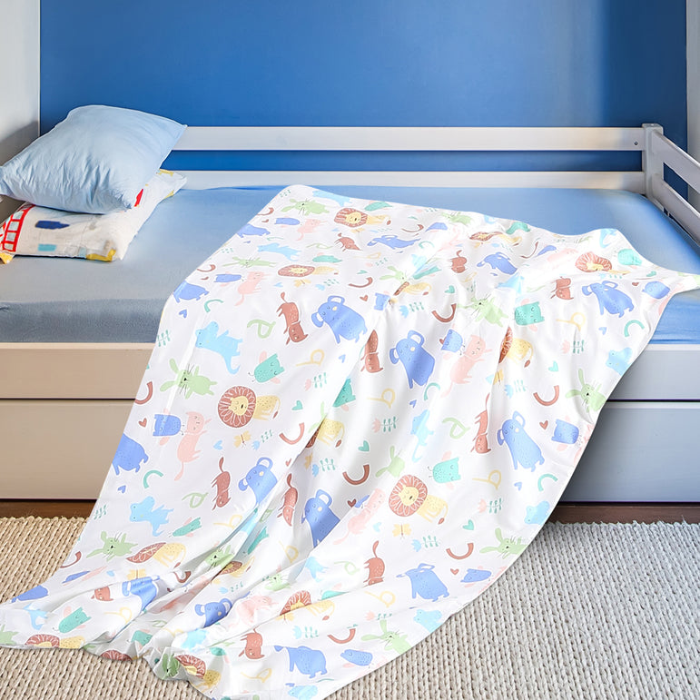 DreamZ Kids Warm Weighted Blanket Lap Pad Cartoon Print Cover Study At Home Pink