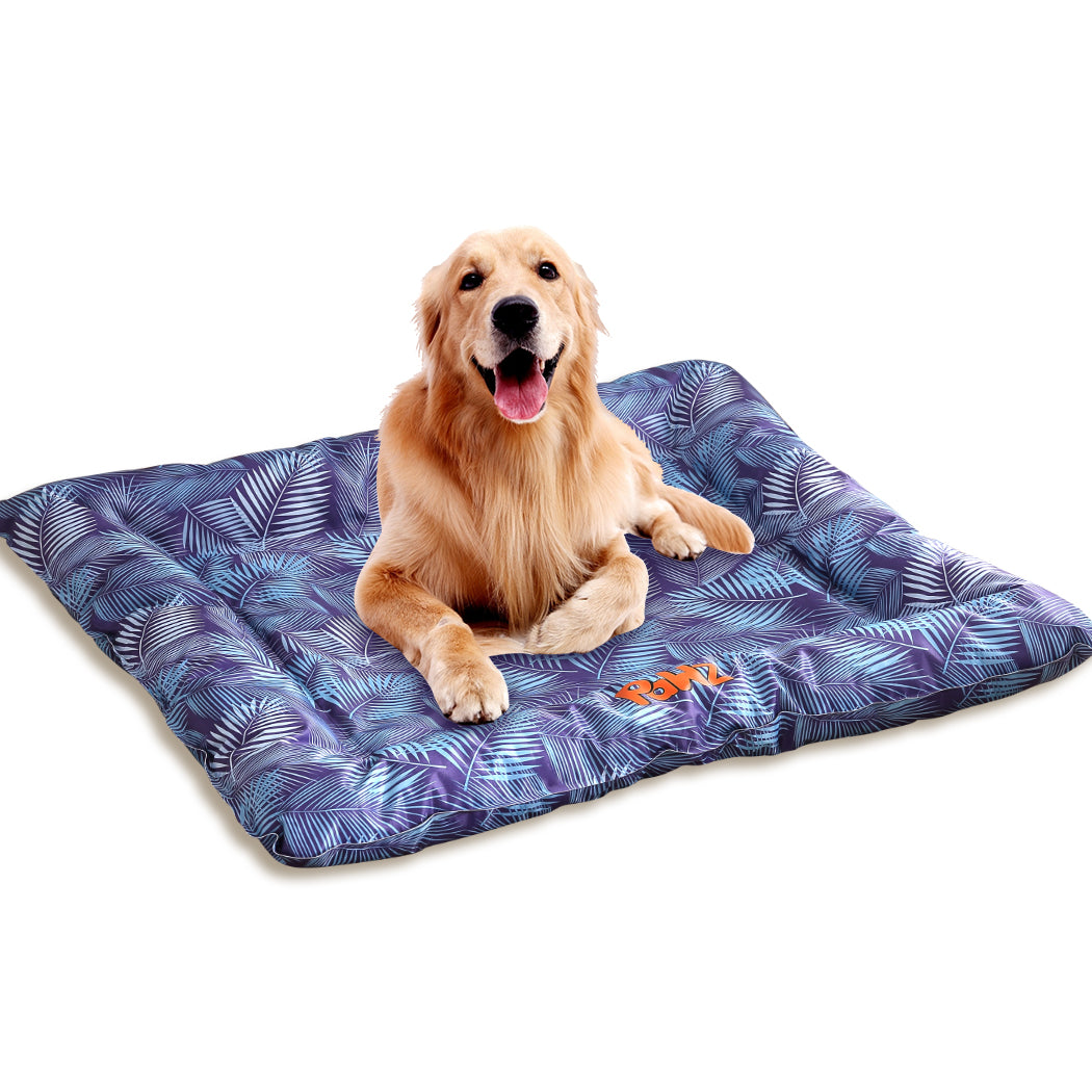 PaWz Anti-bug Dog Cooling Bed-76x65 cm-Pine Pattern Extra Large