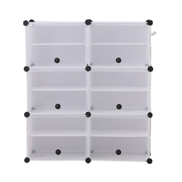 Cube Cabinet DIY Shoe Storage Cabinet Organiser Rack Shelf Stackable 6 Tier