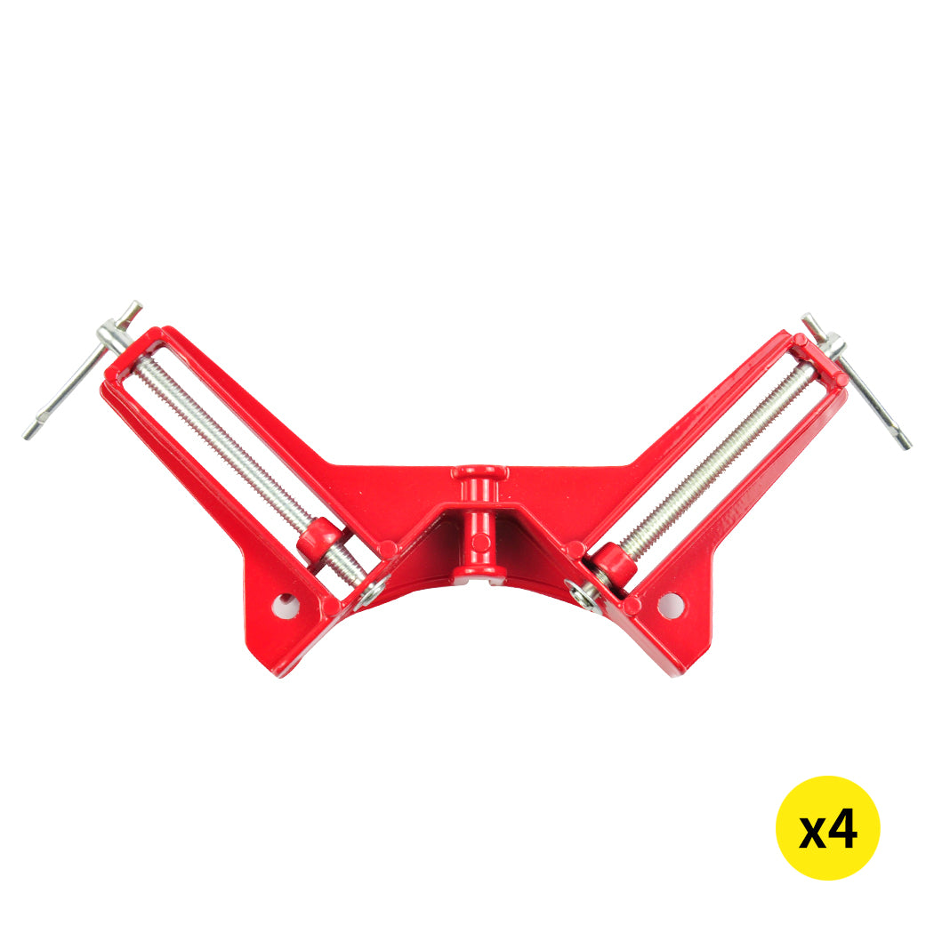 4-Piece Corner Clamp 90 Degree Right Angle Outside Vise Frame Holder Timber Work