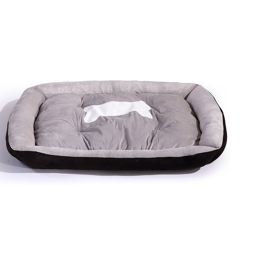 PaWz Heavy Duty Pet Bed Mattress in Size Large in Black Colour