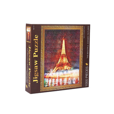 Jigsaw Puzzles 1000 Piece Eiffel Tower Adult Kids DIY Puzzle Toys Home Decor